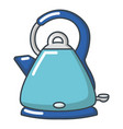 electric kettle icon cartoon style vector image