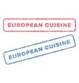 european cuisine textile stamps vector image vector image