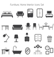 Furniture Mono Icons Set vector image vector image