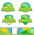 Green Farming Landscape Emblems