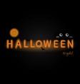 halloween neon signhappy halloween typography vector image vector image