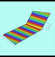 hammock chair with colorful stripes reclining vector image