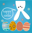 Happy easter hanging bunny background