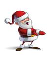 Happy Santa Presenting vector image vector image