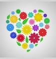 heart paper flowers vector image vector image
