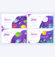 huge universe brochure cards outline outer vector image