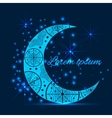 Invitation with a pattern on the crescent moon and vector image vector image