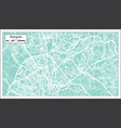 kampala uganda city map in retro style outline map vector image vector image