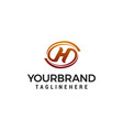 letter h elegant logo design concept template vector image