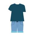 men casual clothes icon vector image vector image
