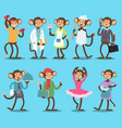 monkey like people smiling nature animals vector image