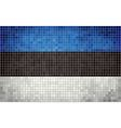 Mosaic Flag of Estonia vector image vector image