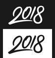 new year 2018 greeting card in black and white vector image vector image