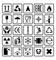packaging symbols shipping cargo signs fragile vector image vector image