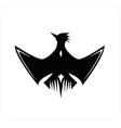 phoenix logo flying bird falcon vector image