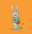 post rabbit cartoon animal hand drawn illus vector image vector image