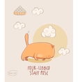 Red Yoga Cat in Four Limbed Staff Pose vector image vector image
