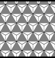 seamless cubical grey and white pattern vector image
