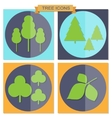 set flat tree icons vector image vector image