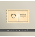 Simple stylish pixel icon heart design vector image vector image