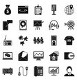 software system icons set simple style vector image