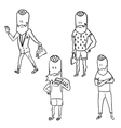 Stylish hipster man doodle set vector image vector image