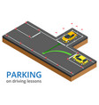 trained in driving school concept parking on vector image vector image