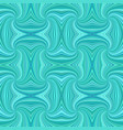 turquoise seamless psychedelic geometrcial spiral vector image vector image