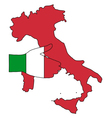 Welcome to Italy vector image vector image