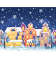 Winter night street vector image vector image