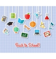 Back to school and education flat icons with vector image