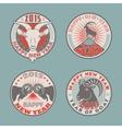 Goat badges color vector image