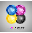 triangles ball cmyk vector image