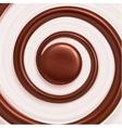 Sweet Spiral Background vector image