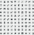 100 army icons vector image vector image