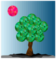 Abstract background with tree vector image vector image