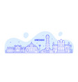 ahmedabad skyline gujarati india city line vector image