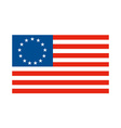 American Betsy Ross stars and stripes flag vector image