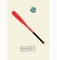 baseball vintage minimalistic style poster vector image
