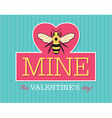 Be Mine Valentine Emblem vector image