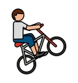 bicycle extreme sport icon vector image vector image