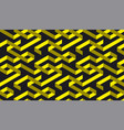 black and yellow geometric stripe pattern vector image vector image
