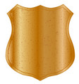 blank metal shield vector image vector image