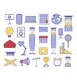 bundle education set icons vector image vector image