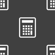 Calculator icon sign Seamless pattern on a gray vector image vector image