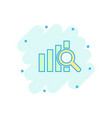 cartoon financial forecast icon in comic style vector image vector image