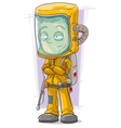 Cartoon scientist in protective gear vector image