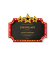 certificate retro design template vector image