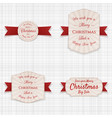 christmas realistic labels set vector image vector image