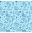 christmas seamless socks vector image vector image